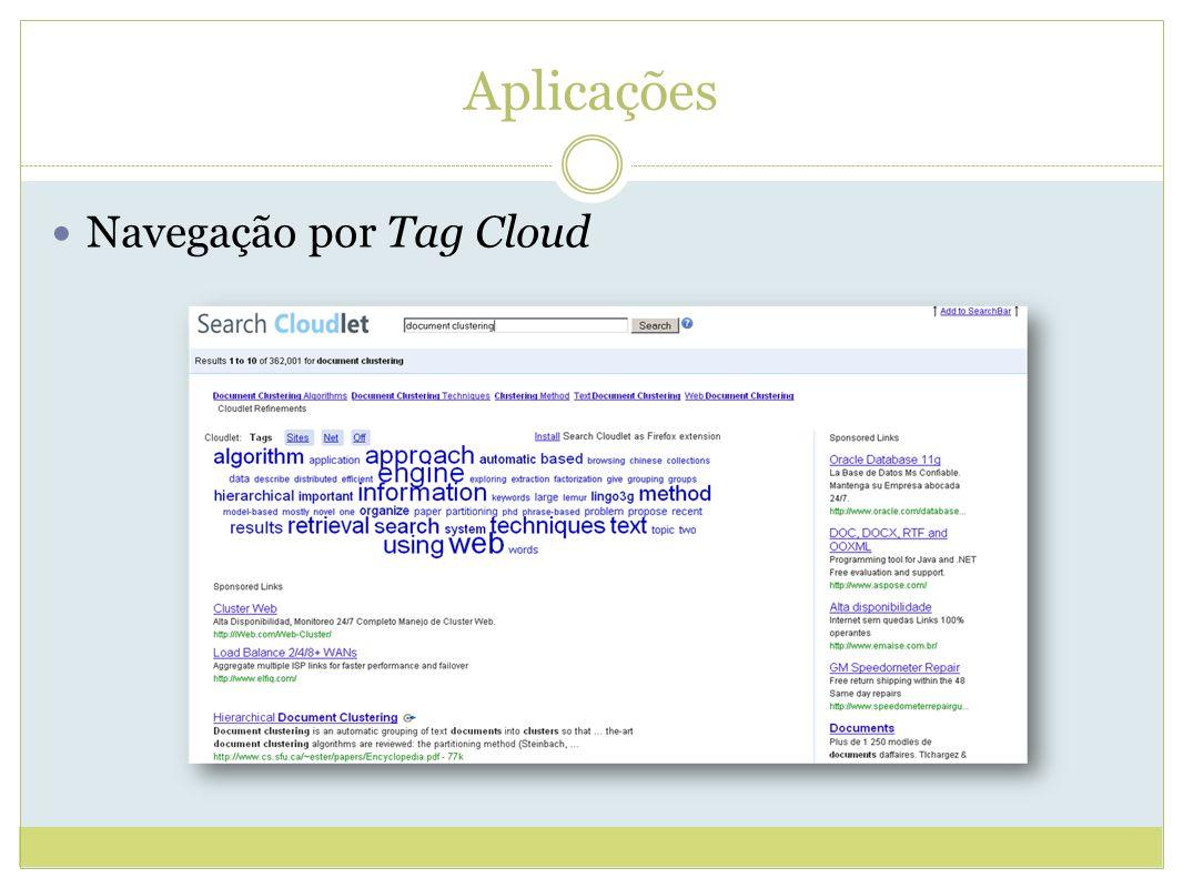 Aplicações Navegação por Tag Cloud