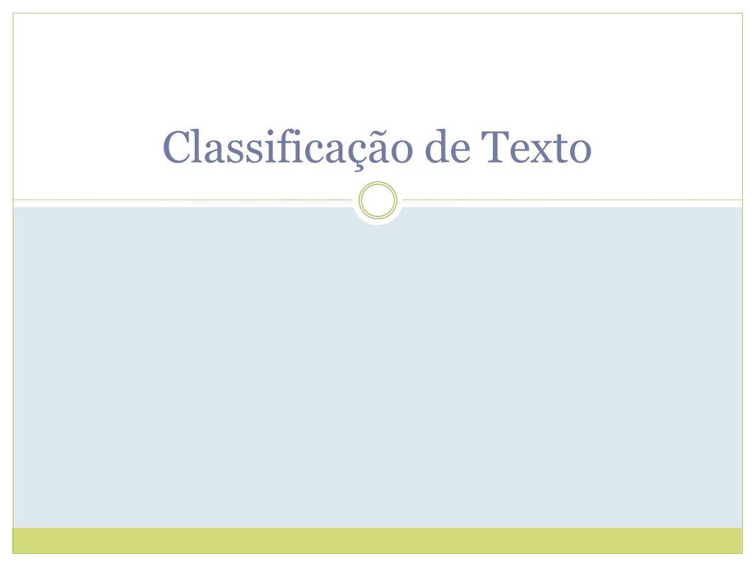 Classificação de Texto