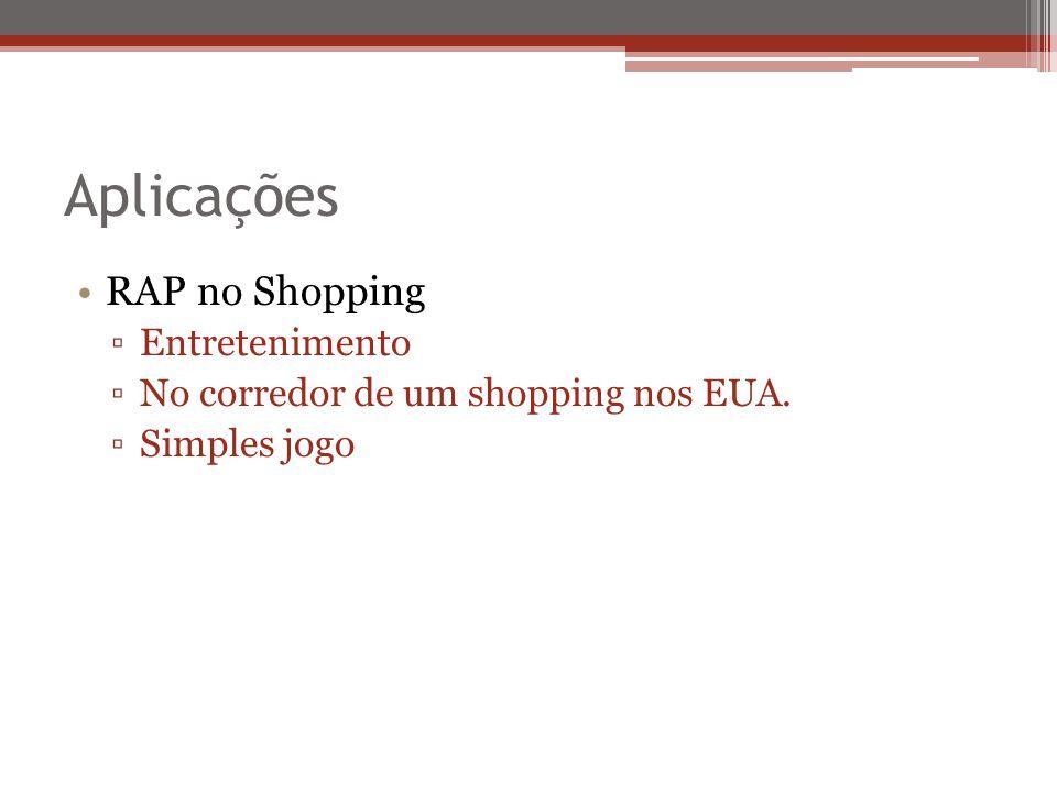 Aplicações RAP no Shopping Entretenimento No corredor de um shopping nos EUA. Simples jogo