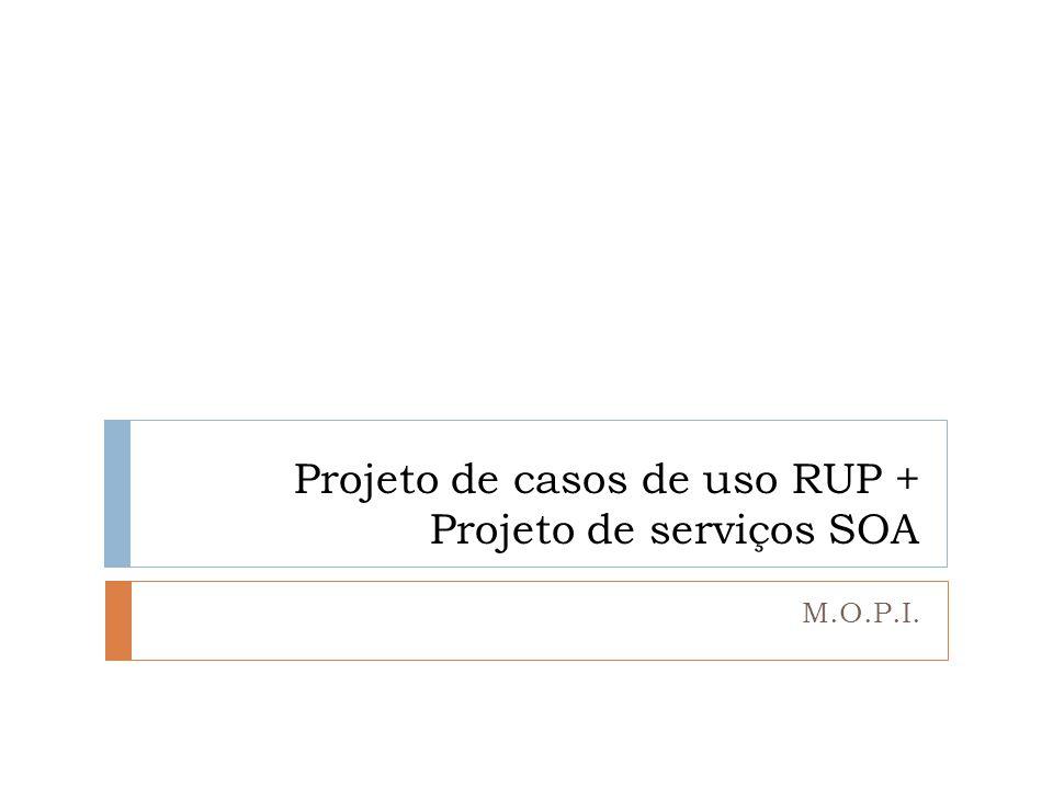 Projeto de casos de uso RUP + Projeto de serviços SOA M.O.P.I.