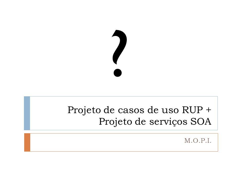 Projeto de casos de uso RUP + Projeto de serviços SOA M.O.P.I. ?