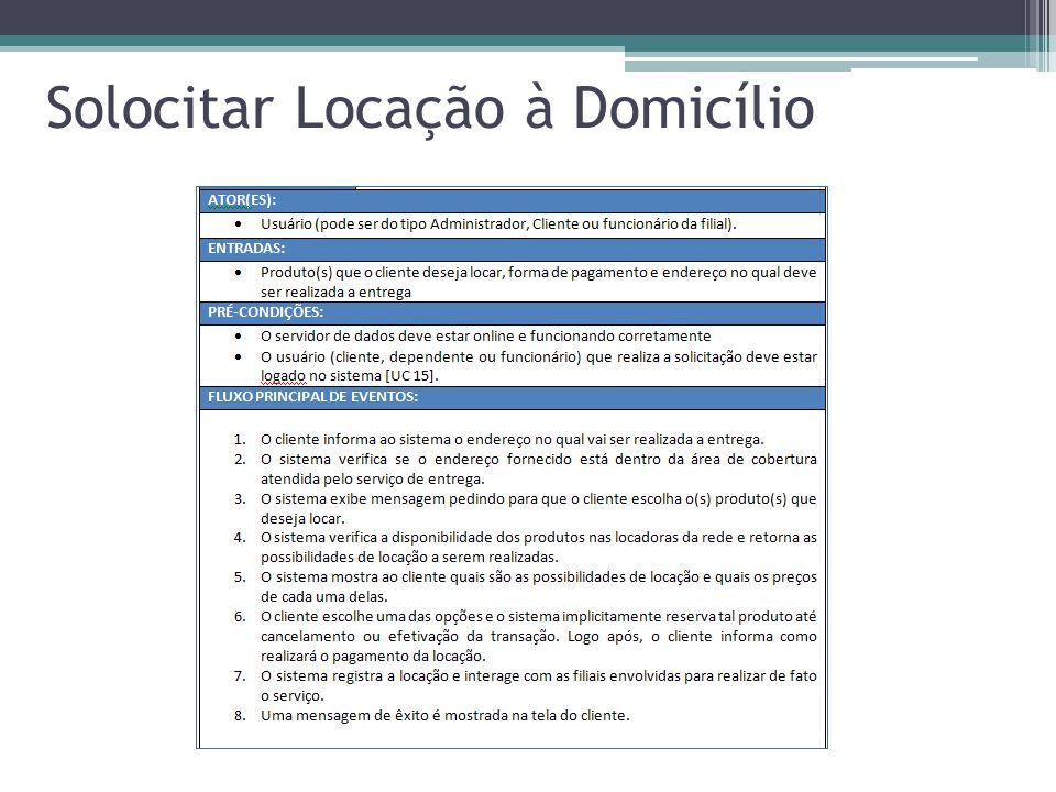 Solocitar Locação à Domicílio