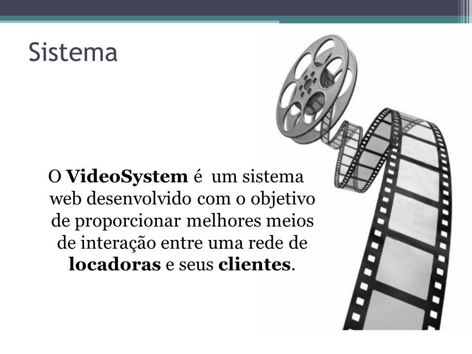 Sistema O VideoSystem é um sistema web desenvolvido com o objetivo de proporcionar melhores meios de interação entre uma rede de locadoras e seus clie