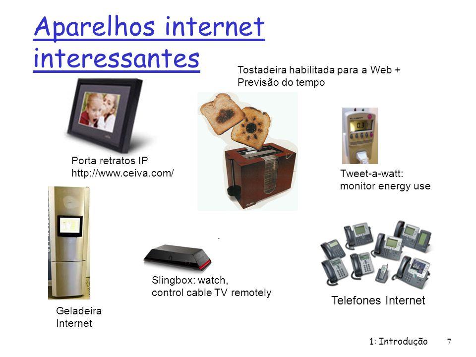 1: Introdução48 http://www.telephonemuseumofgridley.org/ Núcleo da Rede: Comutação de Circuitos