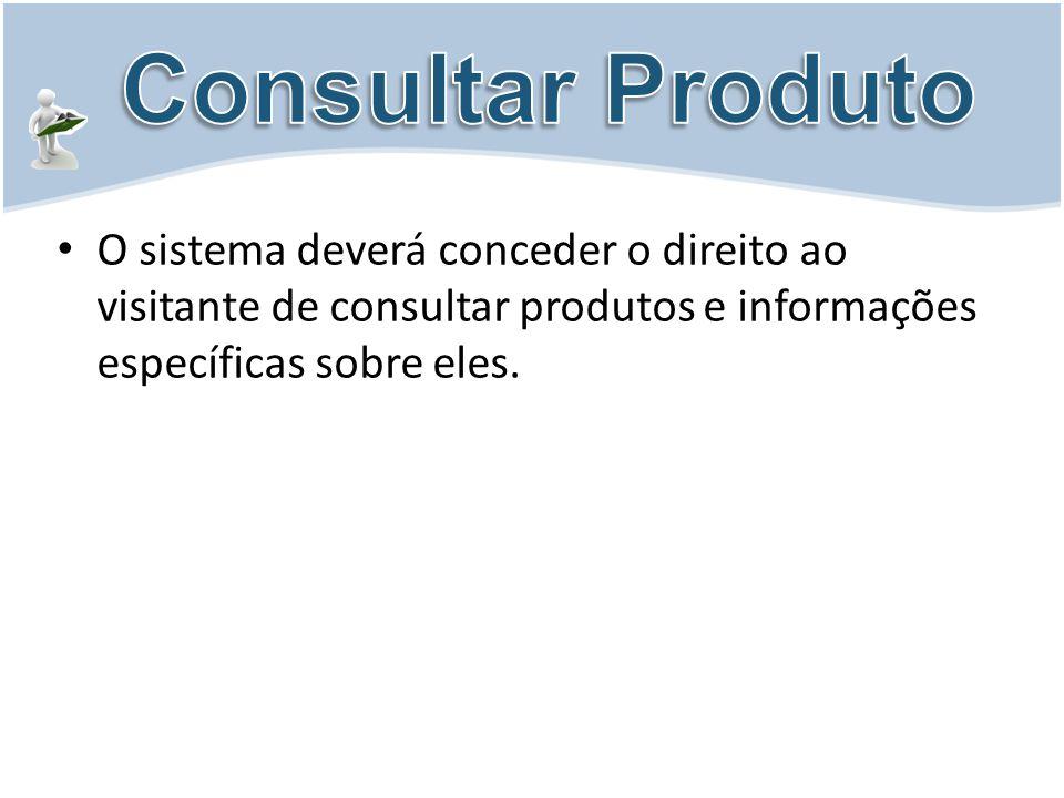 O sistema deverá conceder o direito ao visitante de consultar produtos e informações específicas sobre eles.