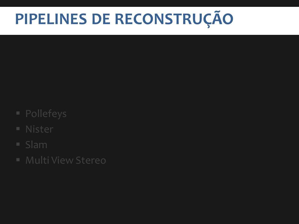 PIPELINES DE RECONSTRUÇÃO Pollefeys Nister Slam Multi View Stereo