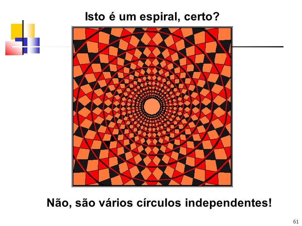 61 Isto é um espiral, certo? Não, são vários círculos independentes!
