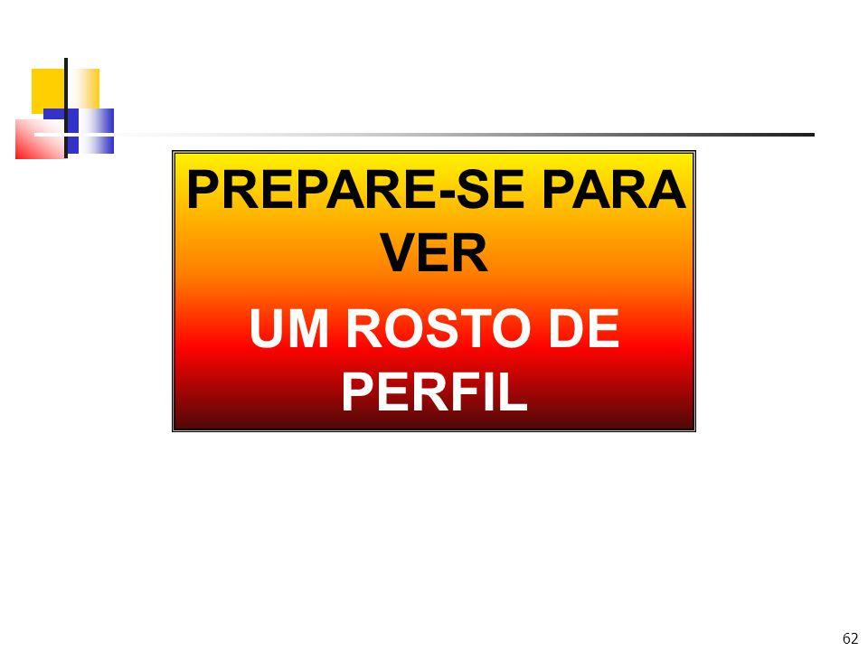 62 PREPARE-SE PARA VER UM ROSTO DE PERFIL