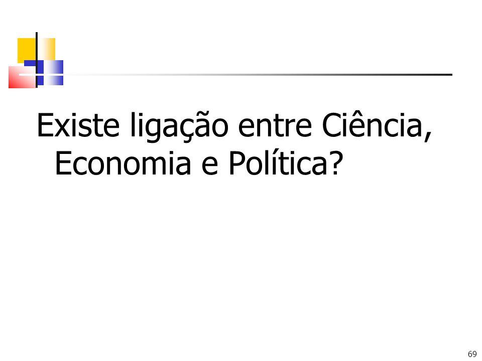 69 Existe ligação entre Ciência, Economia e Política?