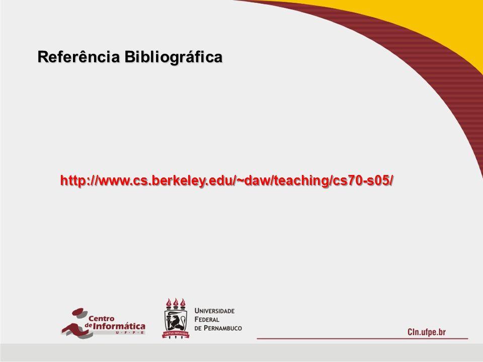 Referência Bibliográfica http://www.cs.berkeley.edu/~daw/teaching/cs70-s05/