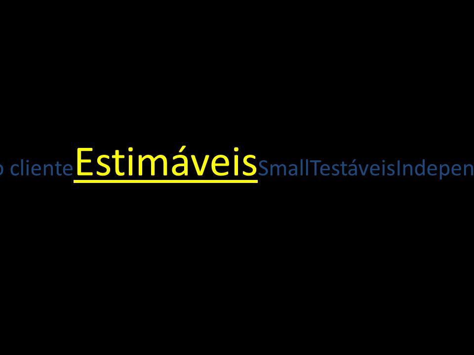 TestáveisIndependentesNegociáveisValor para o cliente Estimáveis SmallTestáveisIndependentes