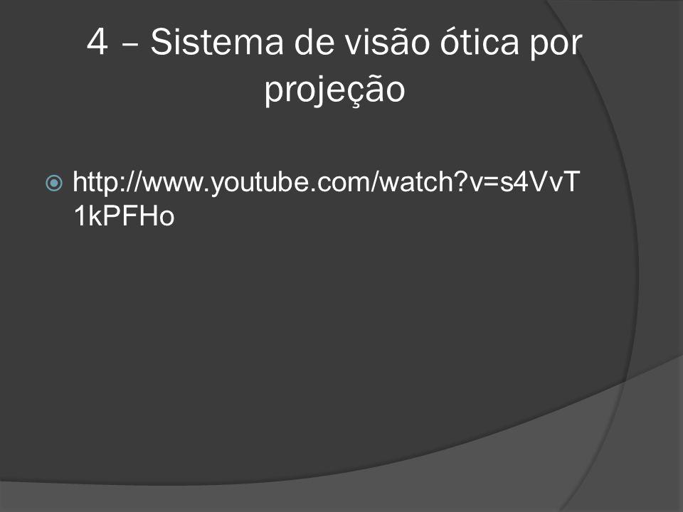4 – Sistema de visão ótica por projeção http://www.youtube.com/watch?v=s4VvT 1kPFHo
