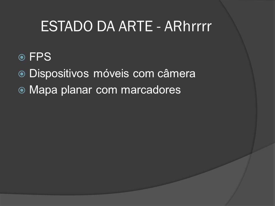 ESTADO DA ARTE - ARhrrrr FPS Dispositivos móveis com câmera Mapa planar com marcadores