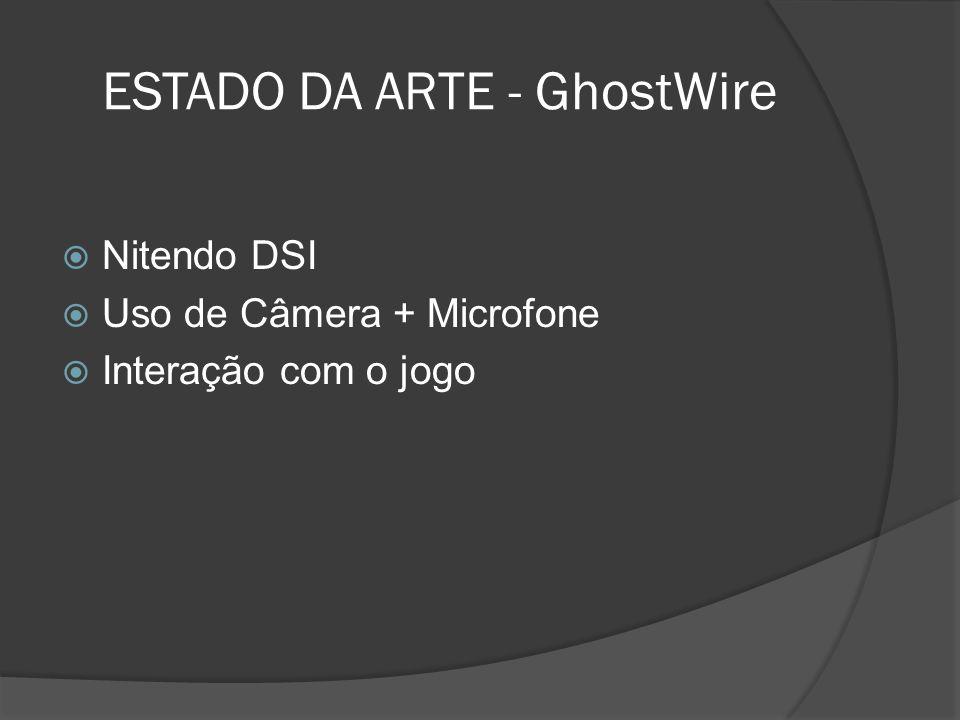 ESTADO DA ARTE - GhostWire Nitendo DSI Uso de Câmera + Microfone Interação com o jogo