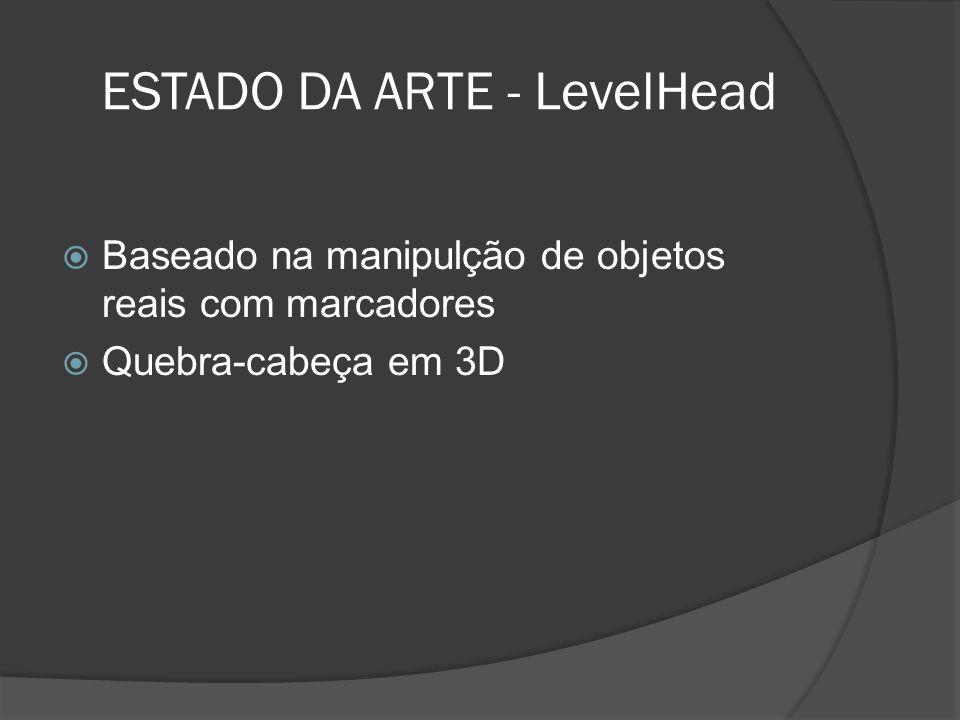 ESTADO DA ARTE - LevelHead Baseado na manipulção de objetos reais com marcadores Quebra-cabeça em 3D