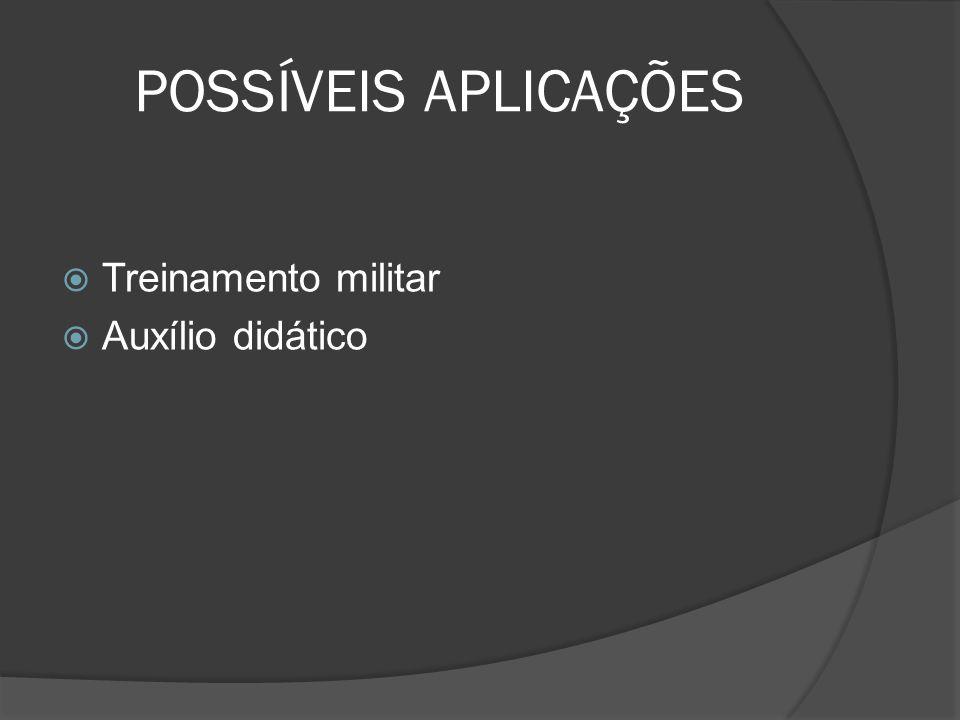 POSSÍVEIS APLICAÇÕES Treinamento militar Auxílio didático