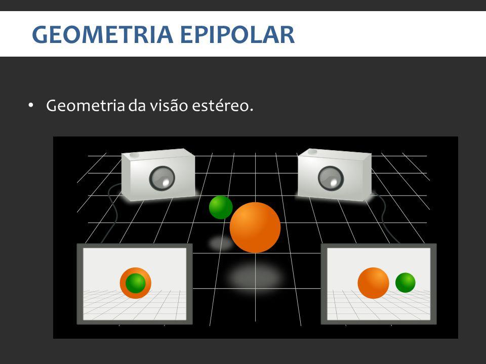Geometria da visão estéreo. GEOMETRIA EPIPOLAR