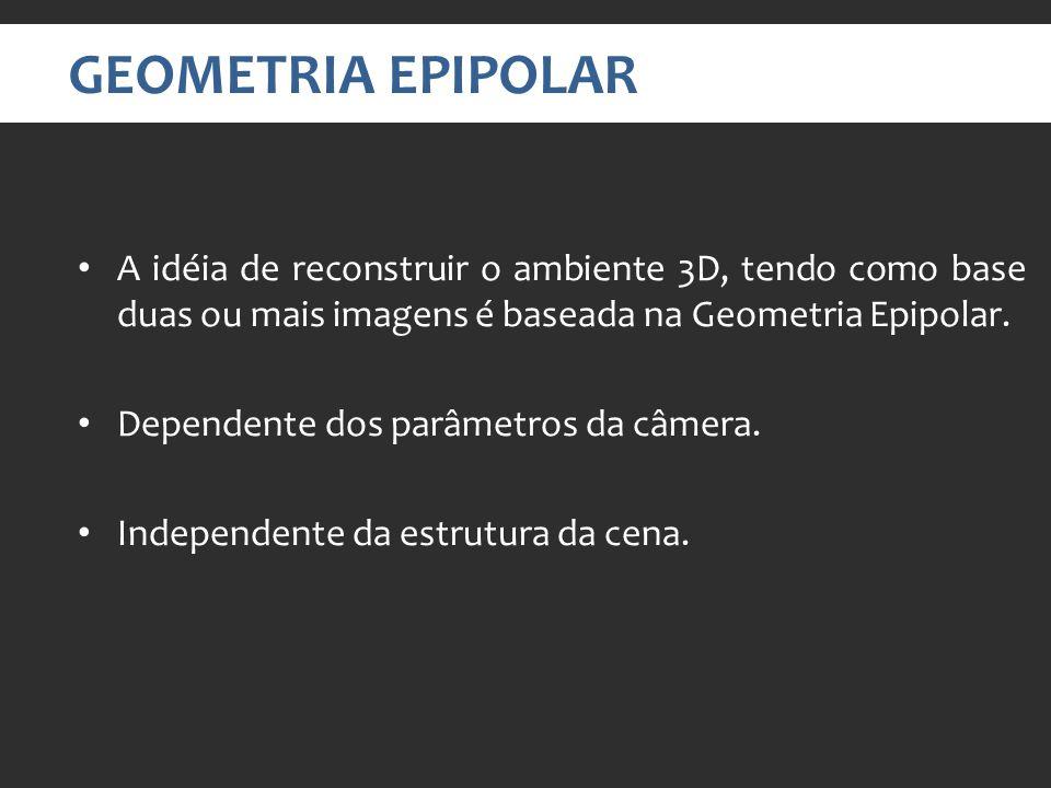 A idéia de reconstruir o ambiente 3D, tendo como base duas ou mais imagens é baseada na Geometria Epipolar.