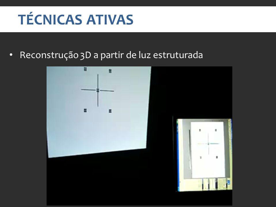 TÉCNICAS ATIVAS Reconstrução 3D a partir de luz estruturada