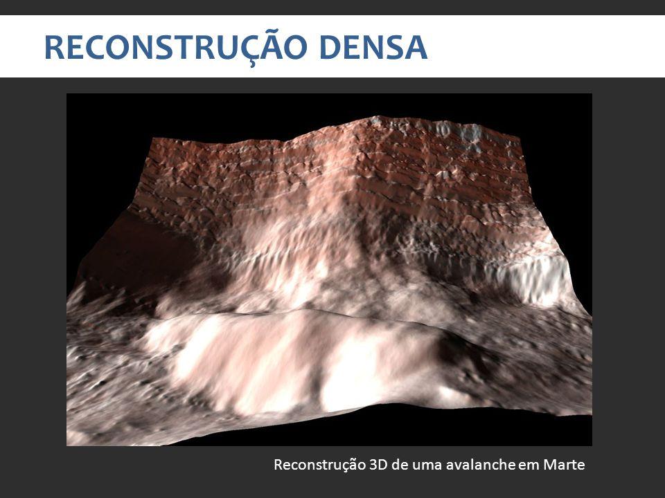 RECONSTRUÇÃO DENSA Reconstrução 3D de uma avalanche em Marte
