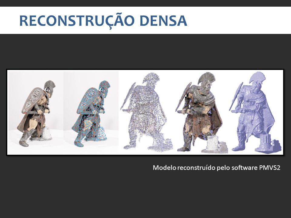 RECONSTRUÇÃO DENSA Modelo reconstruído pelo software PMVS2