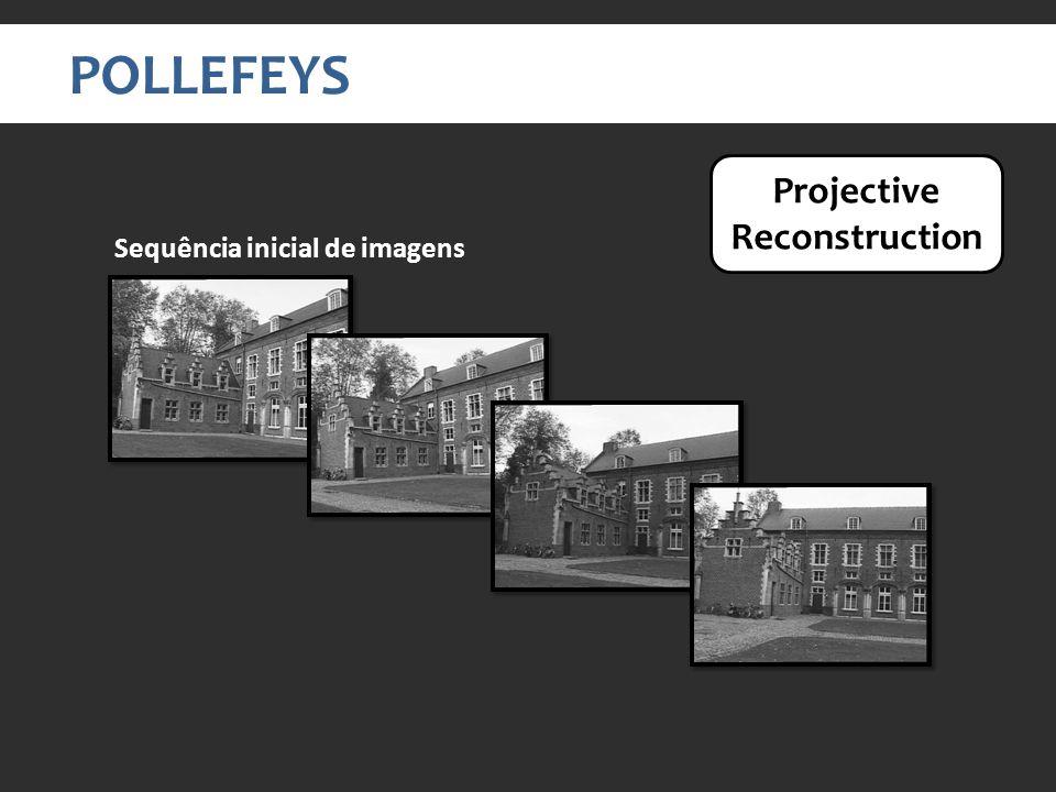POLLEFEYS Sequência inicial de imagens Projective Reconstruction