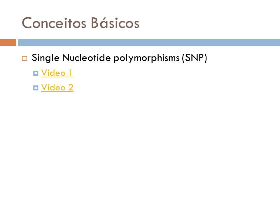 Conceitos Básicos Single Nucleotide polymorphisms (SNP) Vídeo 1 Vídeo 2