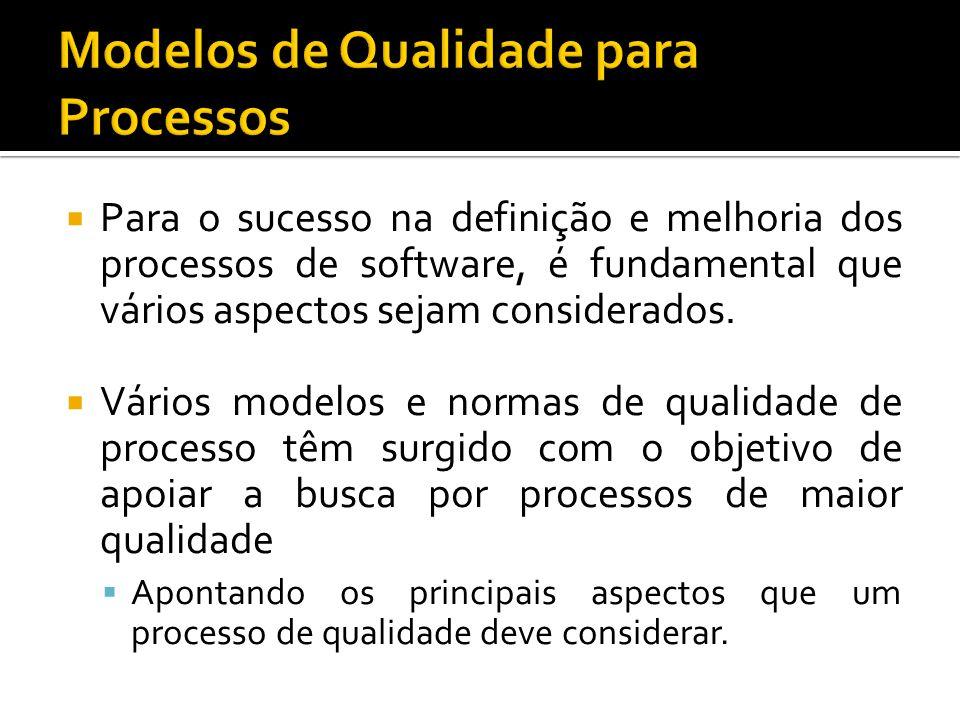 Para o sucesso na definição e melhoria dos processos de software, é fundamental que vários aspectos sejam considerados.