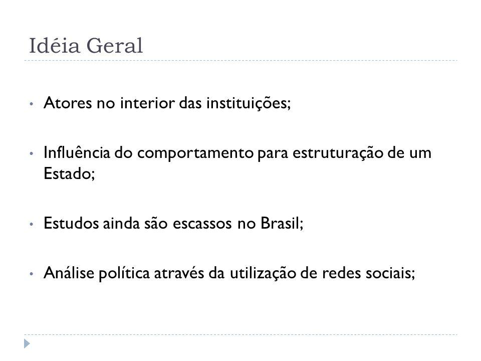 Contexto do Estado Brasileiro 1980: – Marco do início do estudo efetivo sobre políticas públicas; – Ainda não focado em estruturas internas; 1990: – Proliferação da literatura; – Produção ampla com preocupações teóricas; – Poucos casos específicos e detalhados;