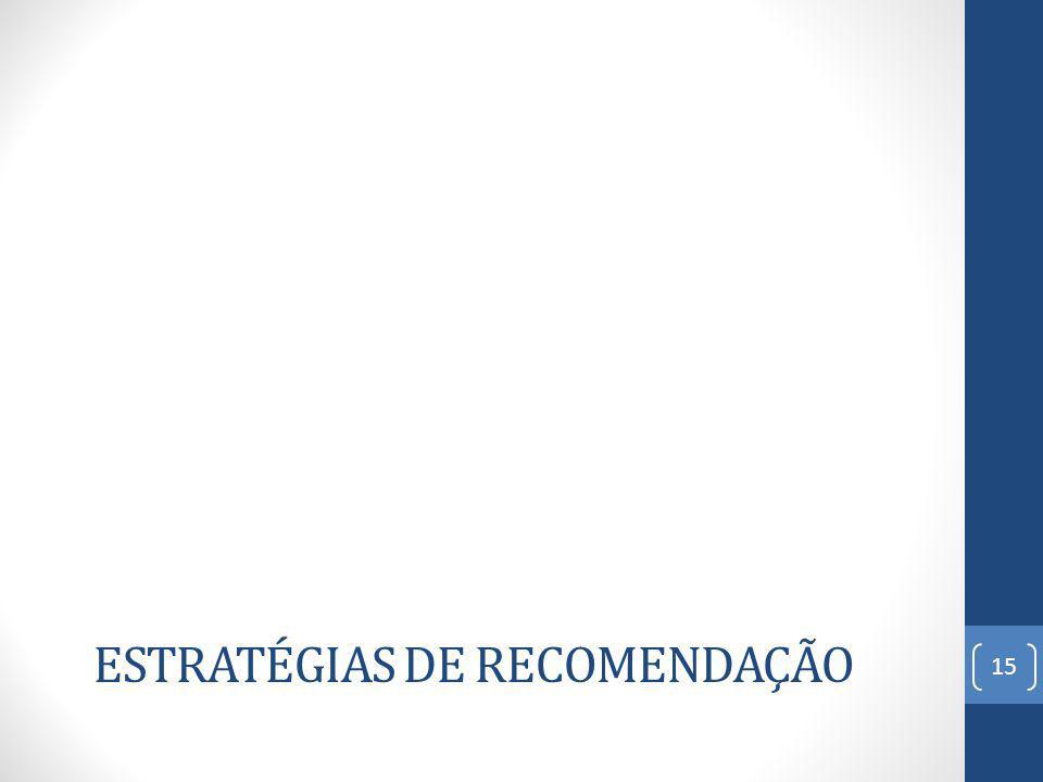 ESTRATÉGIAS DE RECOMENDAÇÃO 15