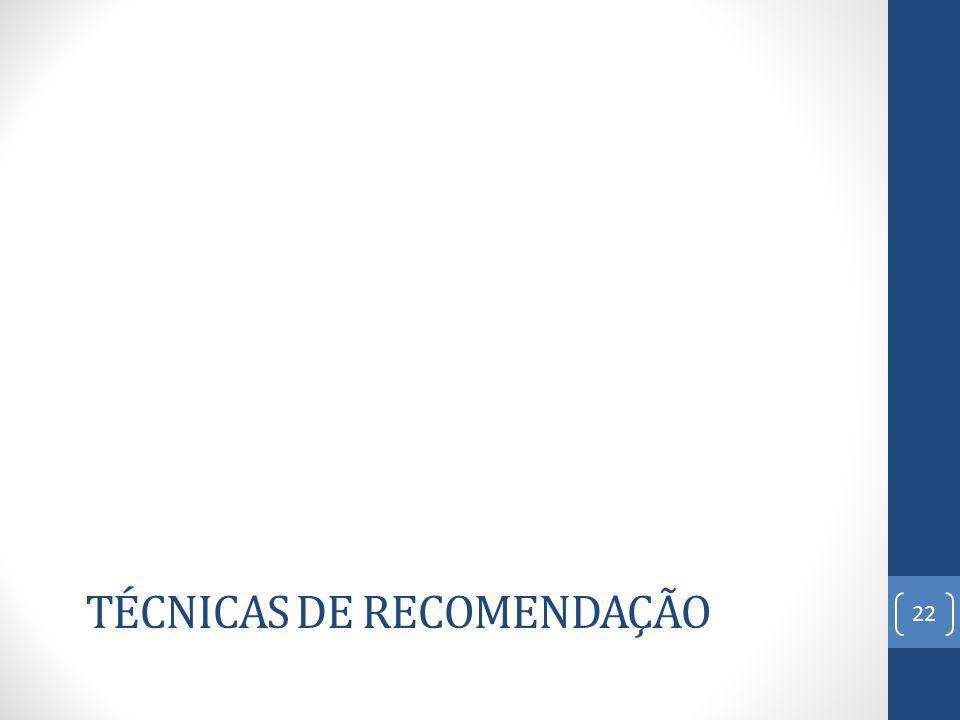 TÉCNICAS DE RECOMENDAÇÃO 22