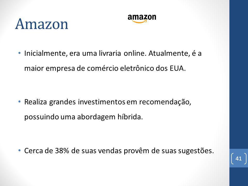 Amazon 41 Inicialmente, era uma livraria online.