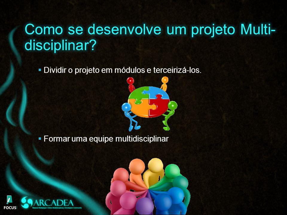 Dividir o projeto em módulos e terceirizá-los. Formar uma equipe multidisciplinar