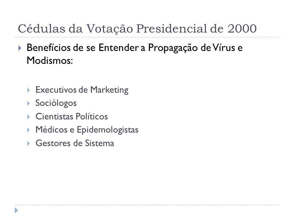 Cédulas da Votação Presidencial de 2000 Benefícios de se Entender a Propagação de Vírus e Modismos: Executivos de Marketing Sociólogos Cientistas Polí