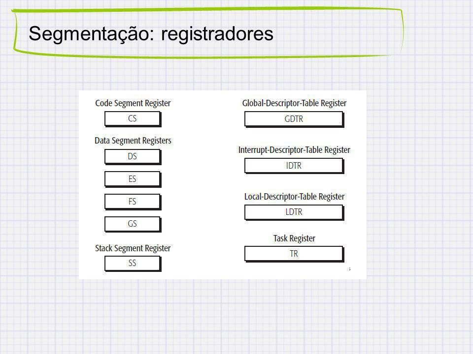 Segmentação: registradores