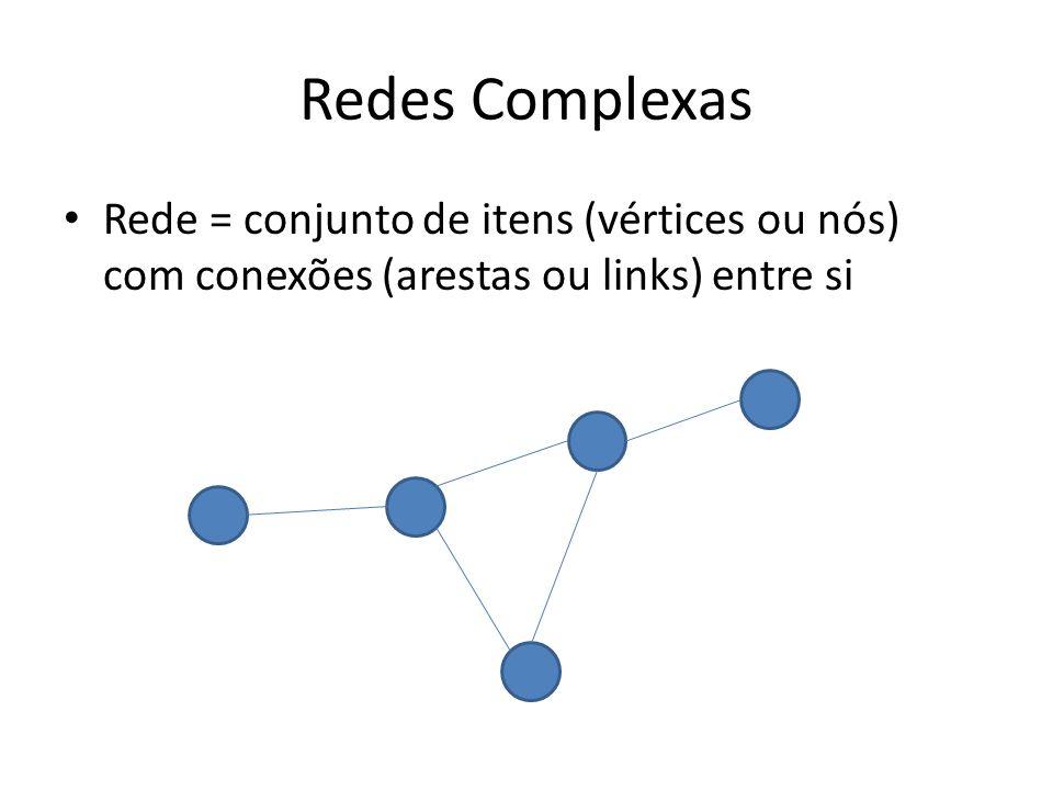 Redes Complexas Rede = conjunto de itens (vértices ou nós) com conexões (arestas ou links) entre si