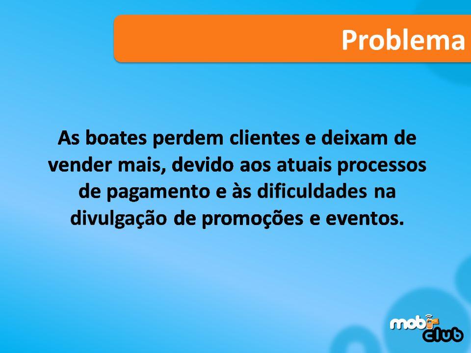 Problema As boates perdem clientes e deixam de vender mais, devido aos atuais processos de pagamento e às dificuldades na divulgação de promoções e eventos.