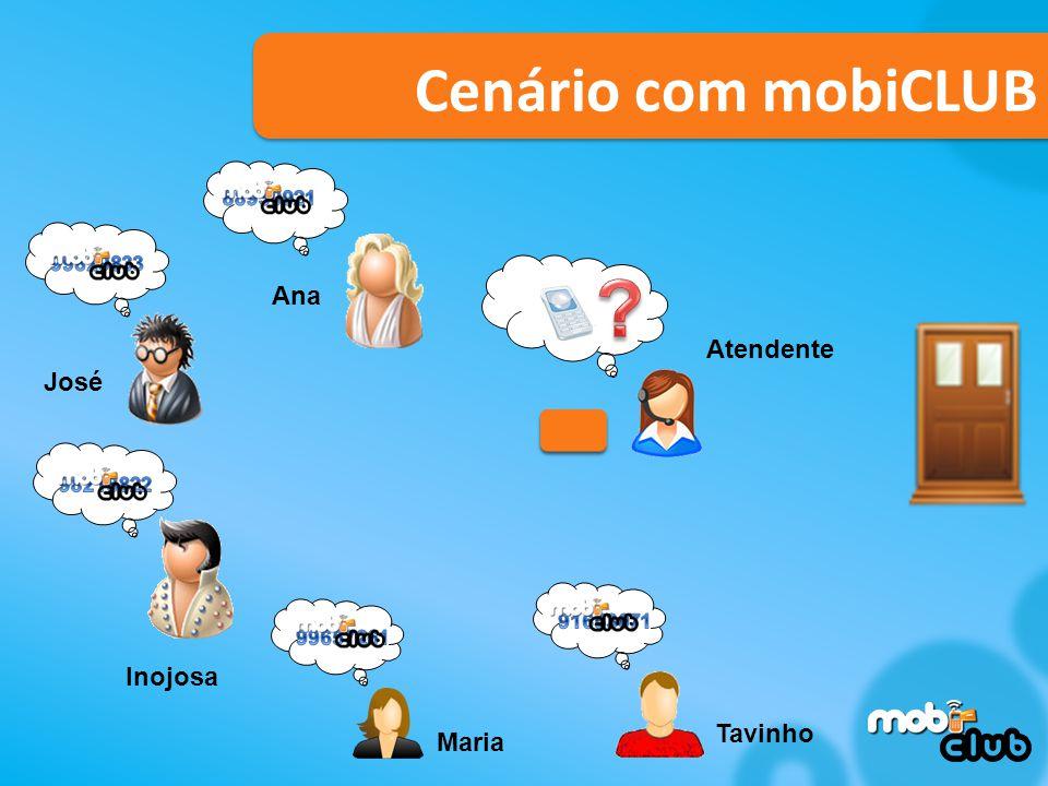 Tavinho Inojosa Maria Ana José Atendente Cenário com mobiCLUB