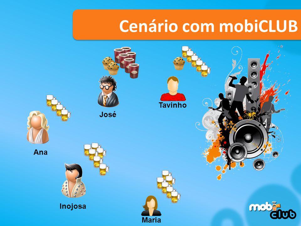 Cenário com mobiCLUB Tavinho Maria Ana José Inojosa