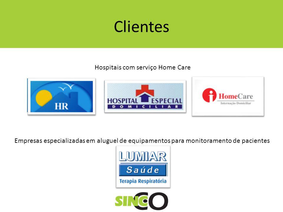 Clientes Hospitais com serviço Home Care Empresas especializadas em aluguel de equipamentos para monitoramento de pacientes
