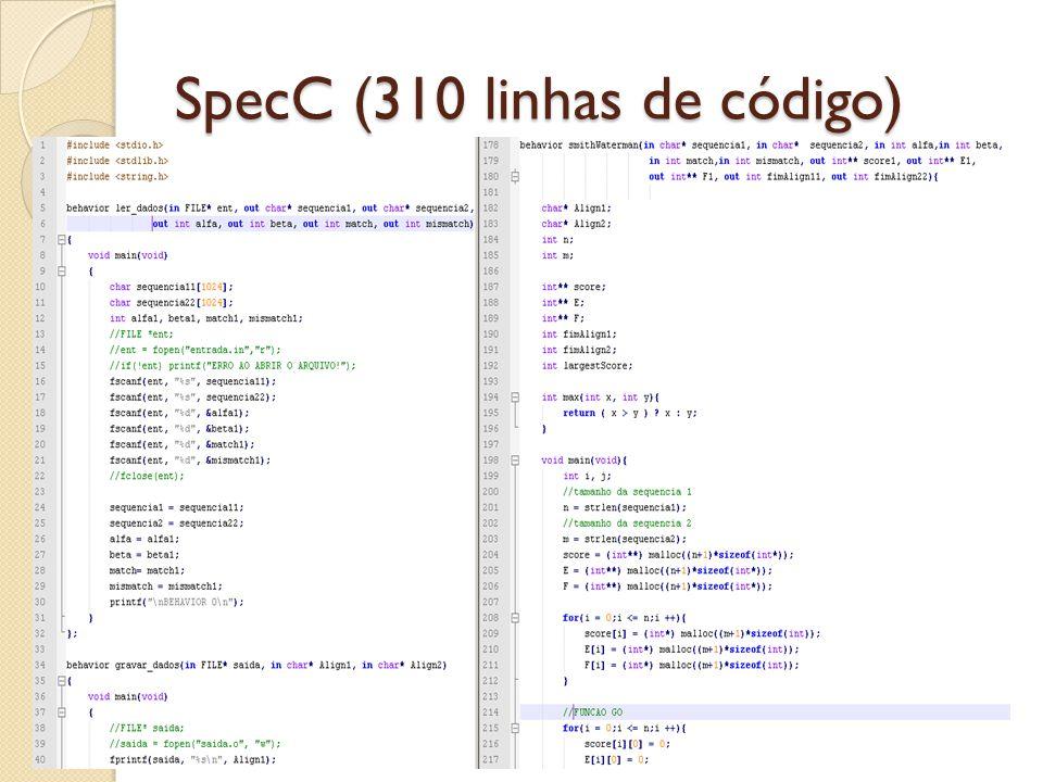 SpecC (310 linhas de código)