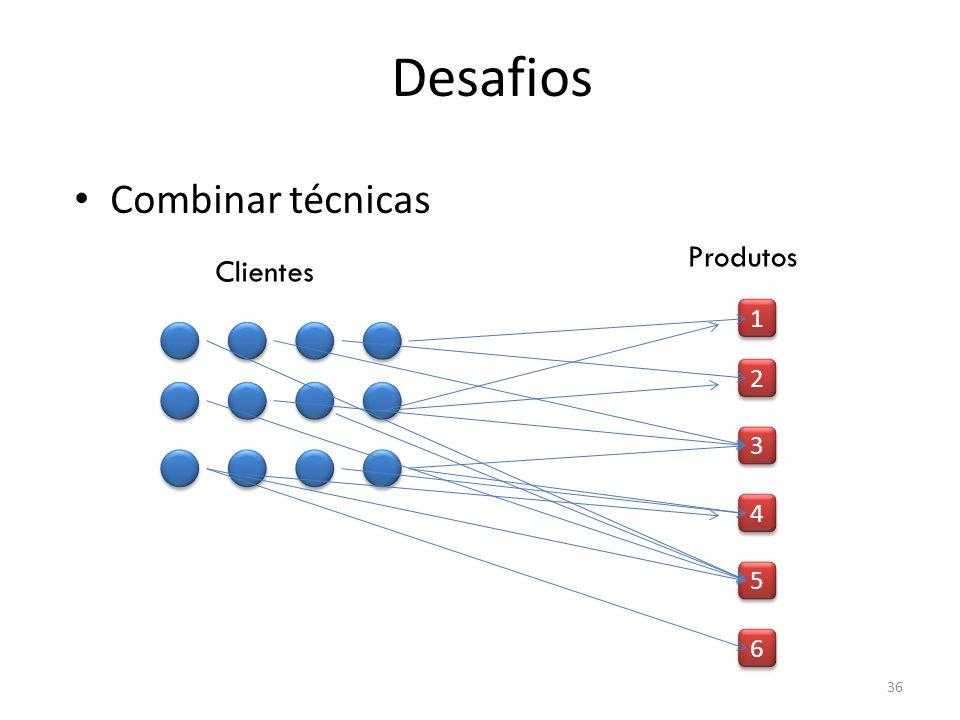 Combinar técnicas 1 1 2 2 3 3 4 4 5 5 6 6 Clientes Produtos 36