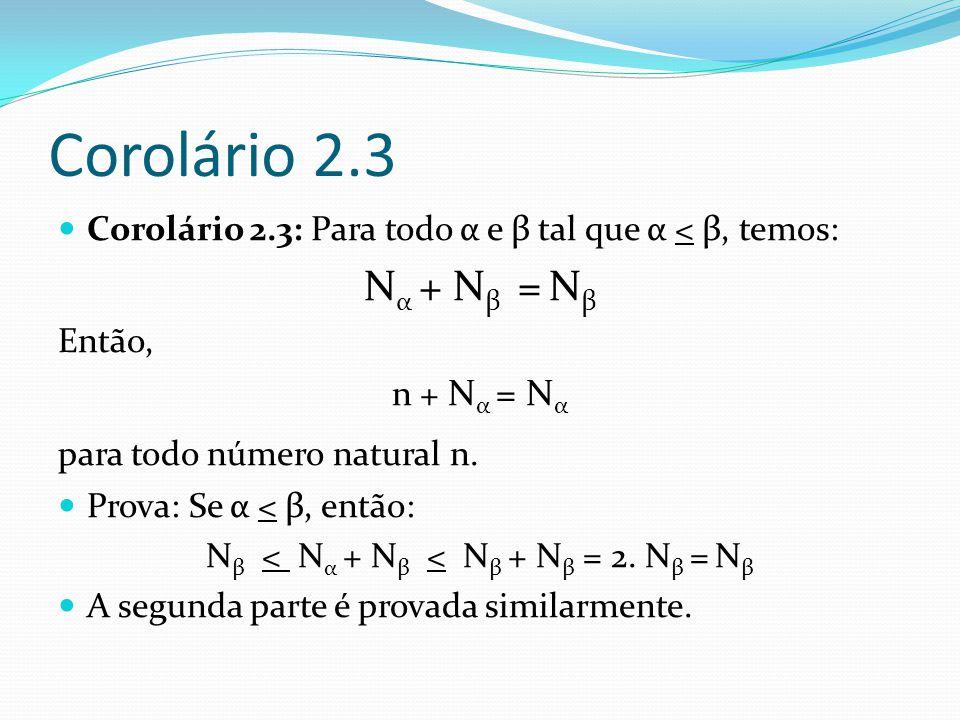Prova do teorema 2.1 (I) Provaremos o teorema 2.1 por indução transfinita.