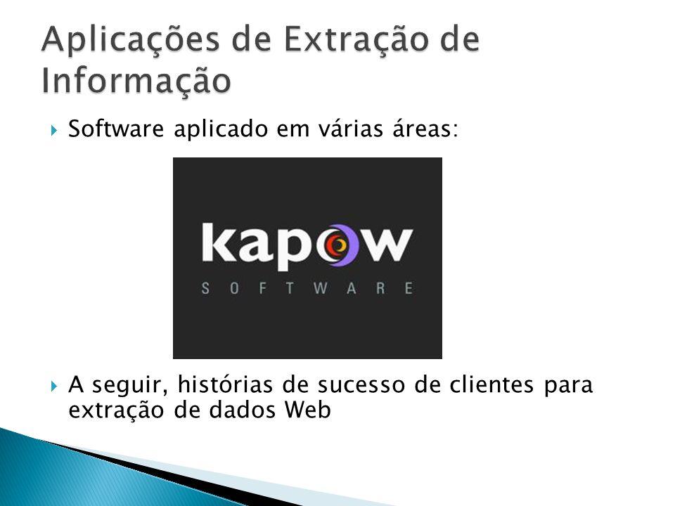 Software aplicado em várias áreas: A seguir, histórias de sucesso de clientes para extração de dados Web