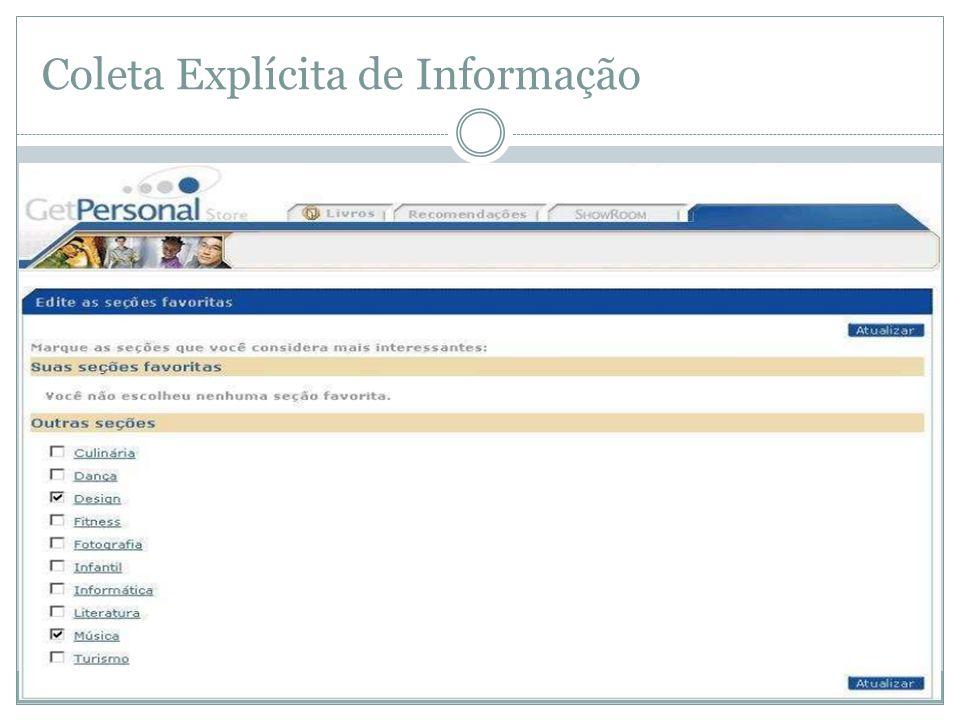 Coleta Explícita de Informação