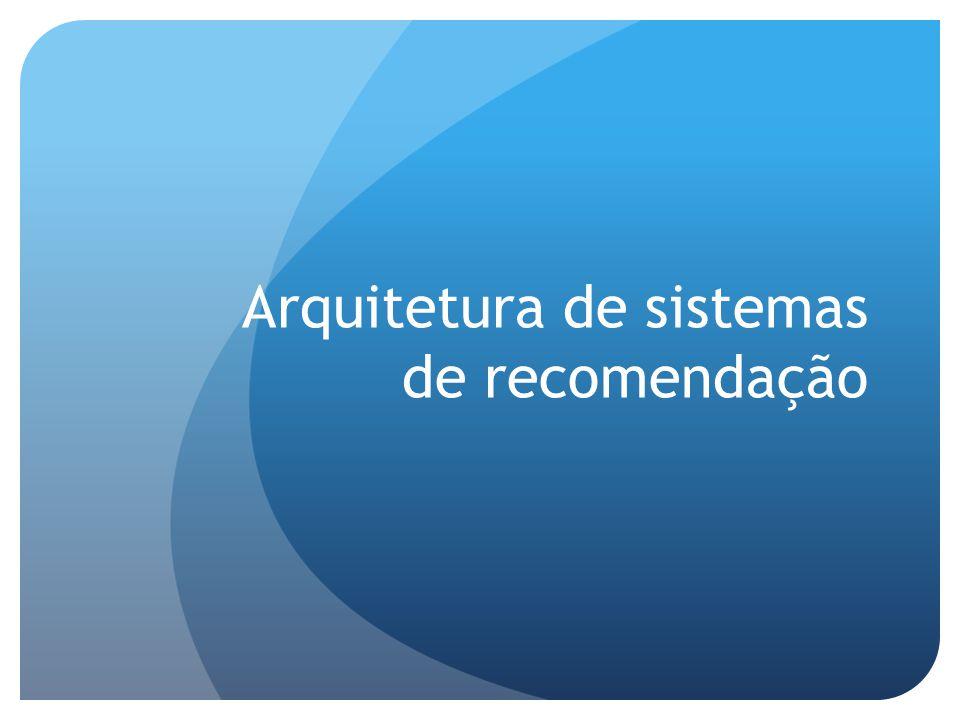 Arquitetura de sistemas de recomendação