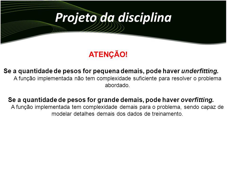 Projeto da disciplina ATENÇÃO.