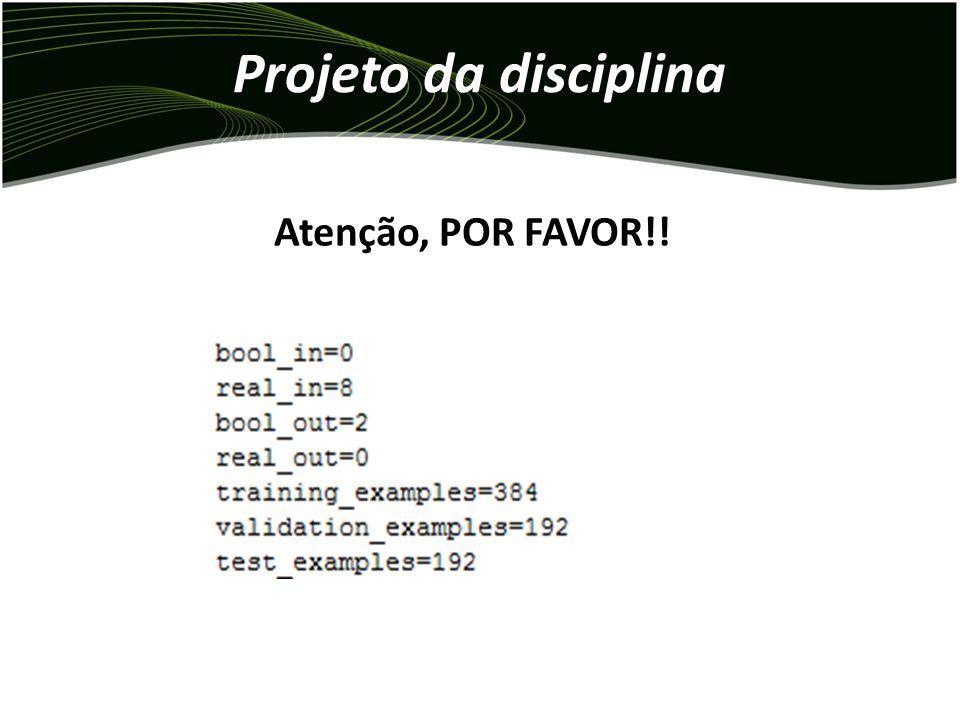 Projeto da disciplina Atenção, POR FAVOR!!