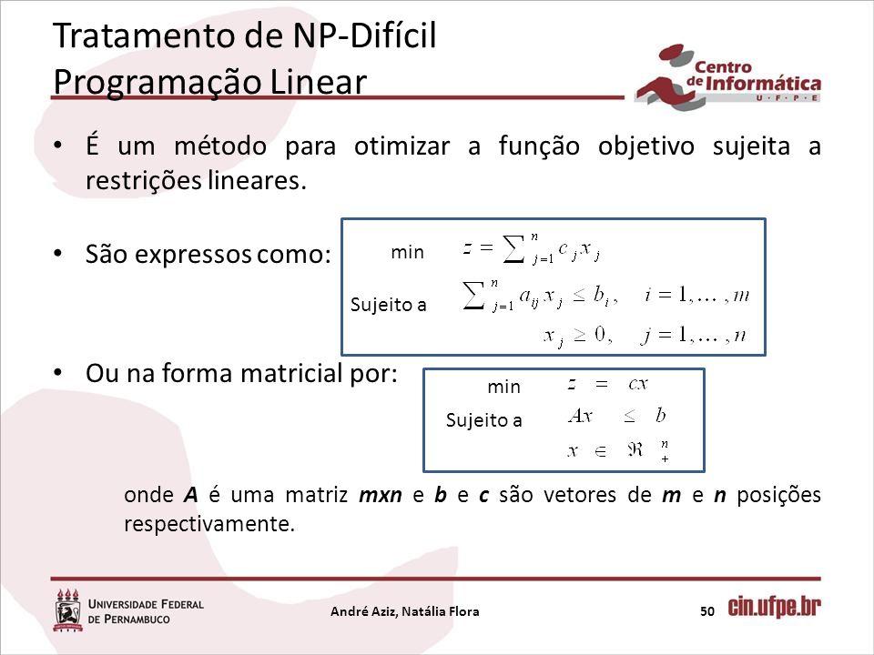 É um método para otimizar a função objetivo sujeita a restrições lineares. São expressos como: Ou na forma matricial por: onde A é uma matriz mxn e b
