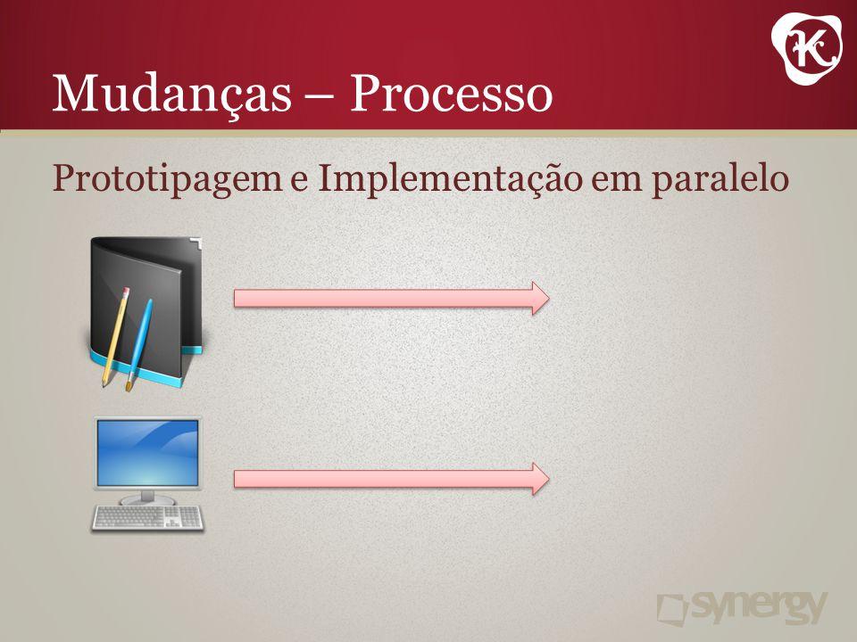 Mudanças – Processo Prototipagem e Implementação em paralelo